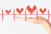Heart problem monitor concept — Stock Photo