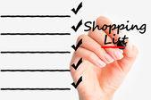 Shopping list — Stock Photo
