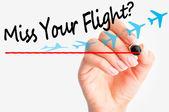 Miss flight concept — Stock Photo