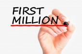 Making first million — Stock Photo