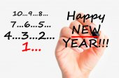 Prosit Neujahr countdown — Stockfoto