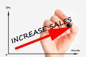 Increase sales graph — Stock Photo