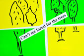Can't see forest for the trees — Stock Photo