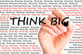 Think big concept — Stock Photo