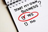 начать собственный бизнес — Стоковое фото