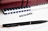 Resume concept — Stock Photo