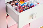 Baby girl drawer — Stock Photo