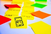Develop smartphone apps — Stock Photo