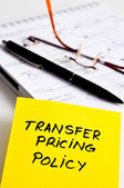 Transfer pricing concept — Stock Photo