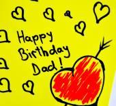 Happy birthday dad note — Stock Photo