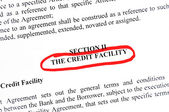 Credit facility — Stock Photo