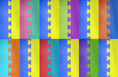 Abstract colorful puzzle background. — Stock Photo