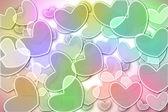 Bokeh heart colorful background. — Foto Stock
