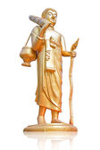 Walking Buddha.(This image contain clipping path) — Stockfoto