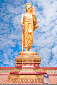 Walking Buddha.(This image contain clipping path) — Stock Photo