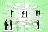 Businessman digital technology. — Stock Photo