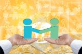 Hand Show Business Cooperation. — Stock Photo