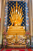 Nakprok Buddha in the church of wat phra that cho hae,northern,th — Stock Photo
