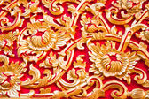 Thai stucco pattern on the church. — Stock Photo