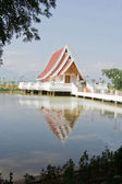 The libraly in temple on Prayao swamp at Wat Sri Khom khum,Prayao,Thailand. — Stock Photo