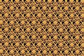 Guld blomma thailändsk konstdesign. — Stockfoto