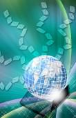 Fondo digital de negocios abstractos. — Foto de Stock