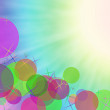 Abstract on a colorful background digital bokeh effect. — Stock Photo #53661251