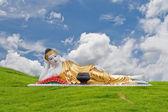 Thai Lanna Buddha Statue. Buddha Statue in Denchai,Phrae Thailand. — Stock Photo