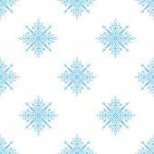 Seamless mönster med snöflingor — Stockvektor