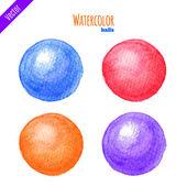 Watercolor balls — Stock Vector