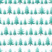 Flache nahtlose Muster mit Cristmas Bäume — Stockvektor