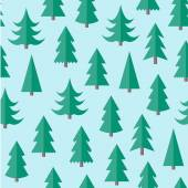 Flat seamless pattern with cristmas trees — Stock Vector
