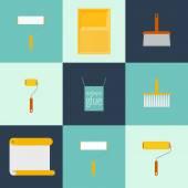 Home repair flat icons — Stock Vector