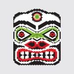 Geometric haida mask — Stock Vector #54368595