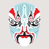 Geometric chinese mask — Stock Vector
