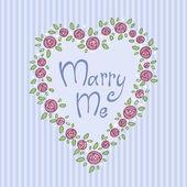 Marry me — Stock Vector