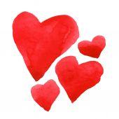 Watercolor heart set — Stock Vector