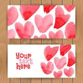 Szablon karty miłości — Wektor stockowy
