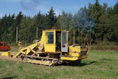 Plant on crawlers for ratya trenches. — Stock Photo