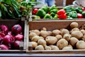 Vegetables at a market — Stock Photo