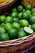 Fresh lime on display at market. — Stock Photo