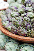 Artichokes in Basket — Stock Photo