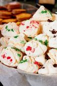 Meringue cookies at the market — Стоковое фото