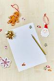 Christmas letter to Santa Claus — Stock Photo