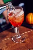 Cocktail avec des glaçons — Photo