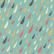 Cute seamless childish texture. Rainy pattern. Endless ornamental pattern with drops on pa blue background. — Stock Photo #54543701