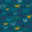 Crowns vector seamless pattern on pastel background. Vector illustration. Endless pattern. — Stock Vector #54544457