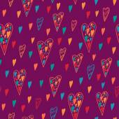 Patrón de corazón sin fisuras para San Valentín. — Vector de stock
