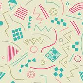 ベクトルの幾何学的図形をシームレスなテクスチャです。無限のパステル背景。ベクトルの背景. — ストックベクタ