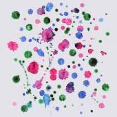Spray vector paint, watercolor splash background,colorful paint drops texture — Stock Vector
